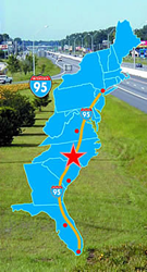 Map of I-95