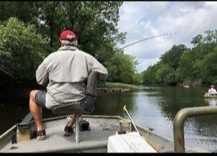 Retiree fishing on the Lumber River
